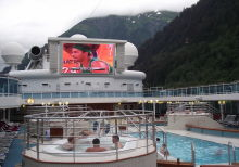 Watching the big game on MUTS at Juneau, Alaska
