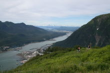 View from Mt. Roberts at Juneau, Alaska