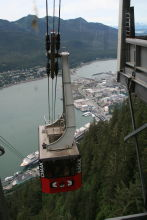 The view from the upper terminus of the Mount Roberts Tramway at Juneau, Alaska