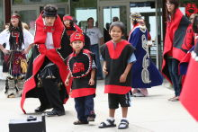 Tlingit Indian dancers at Juneau, Alaska