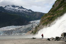 Nugget Falls and the Mendenhall Glacier, Juneau, Alaska