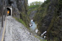 Alaska Railroad through Placer River Gorge