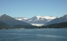 Auke Bay and the Mendenhall Glacier, Juneau, Alaska