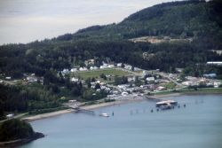 A look at historic Fort William H. Seward from the air - Haines, Alaska