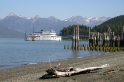 The cruise ship 'Spirit of '98' in Haines, Alaska, in 2003