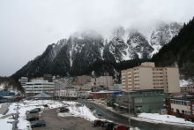 A snowy day in Juneau, Alaska
