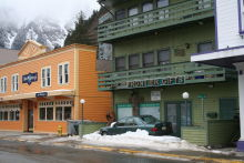 Winter on South Franklin Street in Juneau, Alaska