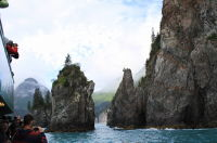 Awesome cliffs in Kenai Fjords, Alaska