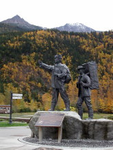 Skagway, Alaska - the statue honoring the Tlingit packers made famous during the Klondike Gold Rush