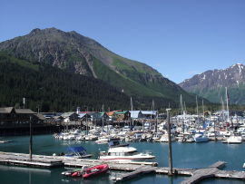 Small boat habor at Seward, Alaska