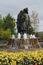 'Unknown First Family' statue - Fairbanks, Alaska