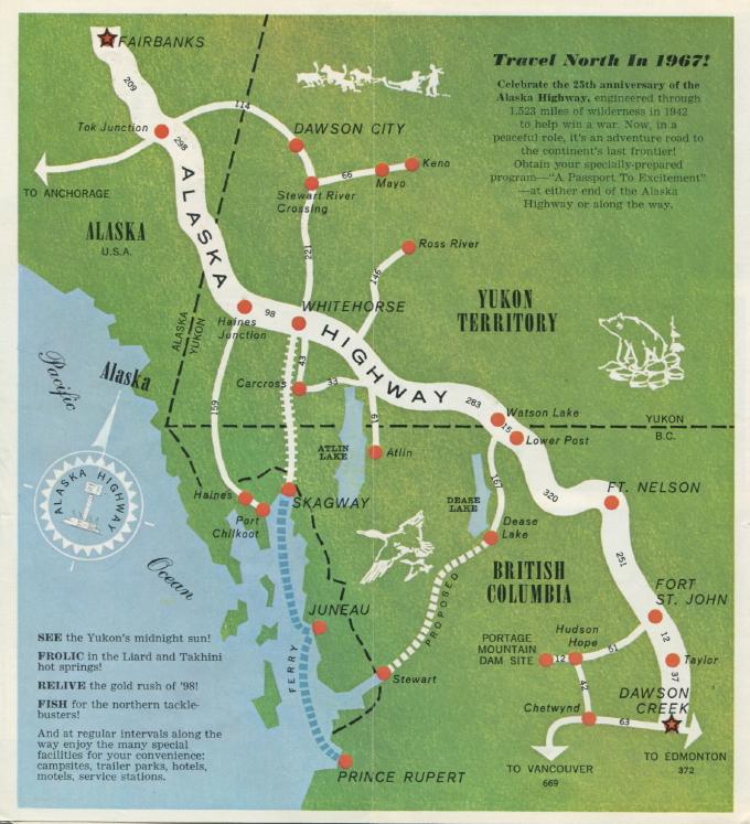 Alaska Highway 1967 Celebrations Brochure