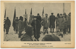 Alaska Highway opening at what is now called Soldier's Summit