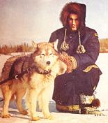 Mountie with sled dog