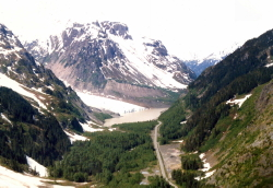 Aerial view of BC's Bear Glacier in 1985