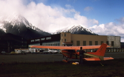 Cessna 172 C-GWDM in Smithers, BC, in 1985