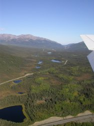 Alaska's Nenana River valley from the air