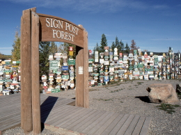 Watson Lake's Signpost Forest, on the Alaska Highway