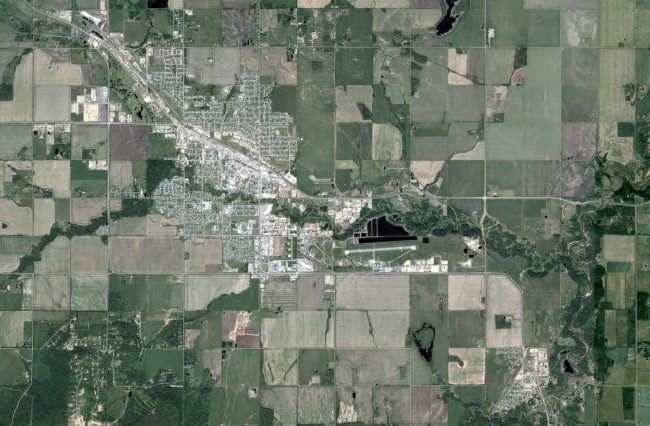 Map of Dawson Creek, BC