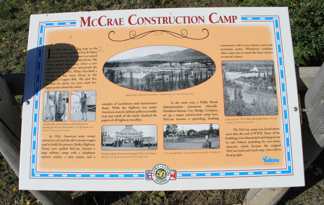McCrae Construction Camp and Historic Mile 910 Stop of Interest, Alaska Highway