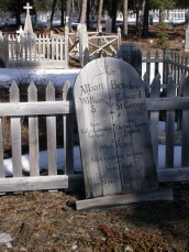 A headstone in the Atlin Pioneer Cemetery - Atlin, BC