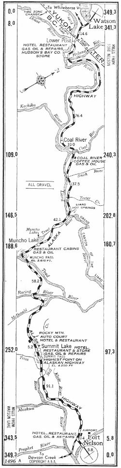 Strip Map #2 of Alaska Highway, 1950