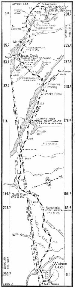 Strip Map #3 of Alaska Highway, 1950