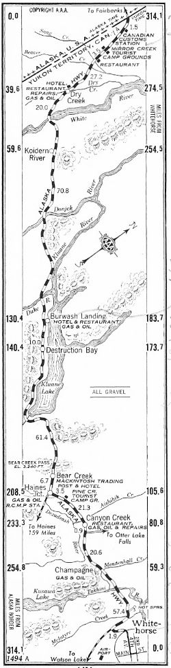 Strip Map #4 of Alaska Highway, 1950