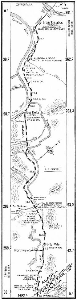 Strip Map #5 of Alaska Highway, 1950