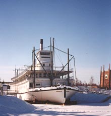 The historic Tanana River sternwheeler 'Nenana' sitting at Alaskaland in Fairbanks.