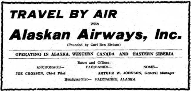 Alaskan Airways, 1930