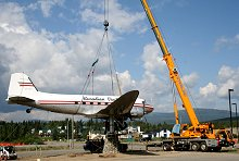 Canadian Pacific Airlines Douglas C-47 / DC-3 CF-CPY at Whitehorse, Yukon