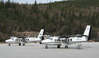 N147SA and N232SA: De Havilland Canada DHC-6-300s at Skagway, Alaska