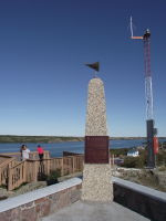 The Pilots Monument in Yellowknife