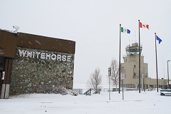 The airport terminal and control tower - Whitehorse, Yukon
