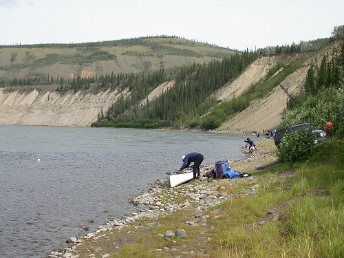 The Yukon River at the mouth of Tatchun Creek