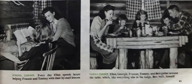 Life at Bert & Helen Laws Silver Dollar Lodge in 1952