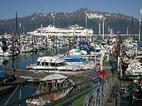 Seward's small boat harbor in 2002.