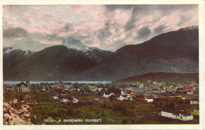 High view of Skagway in about 1905