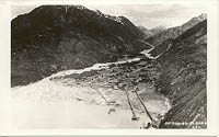 An aerial photo of Skagway, Alaska - possibly in the 1930s.