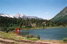 A view of Bennett from the White Pass & yukon Route train station. Click to enlarge it.