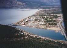 Aerial view of Carcross, YUkon