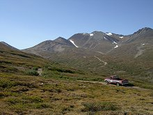 Near the summit of Montana Mountain, Yukon