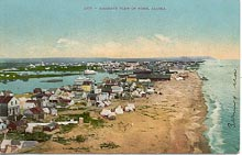 Nome, seen from a hot-air balloon in 1900