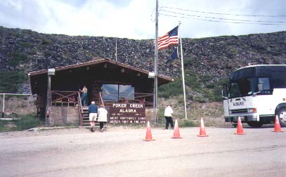US Customs at Poker Creek, Alaska