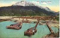 Postcard of Skagway, Alaska in about 1910