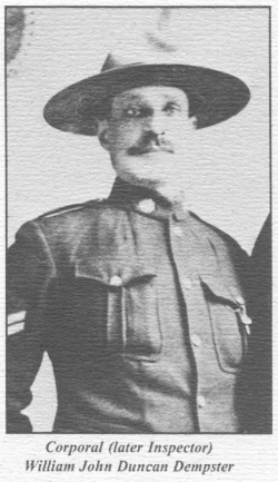 Corporal (later Inspector) William John Duncan Dempster