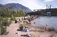 Photo #11 - the fine sand beach at Carcross, Yukon