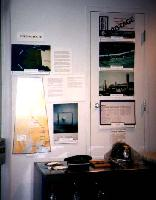 Display of Trans Alaska Pipeline sabotage attacks, in the Alaska State Troopers Museum, Anchorage, Alaska