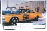 Patrol car photo in the Alaska State Troopers Museum, Anchorage, Alaska